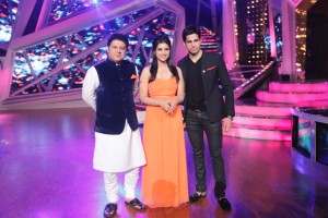 Sajid Khan along with Parineeti and Siddharth when they came for the promotions of Hansi To Phansi  on Nach Baliye-6